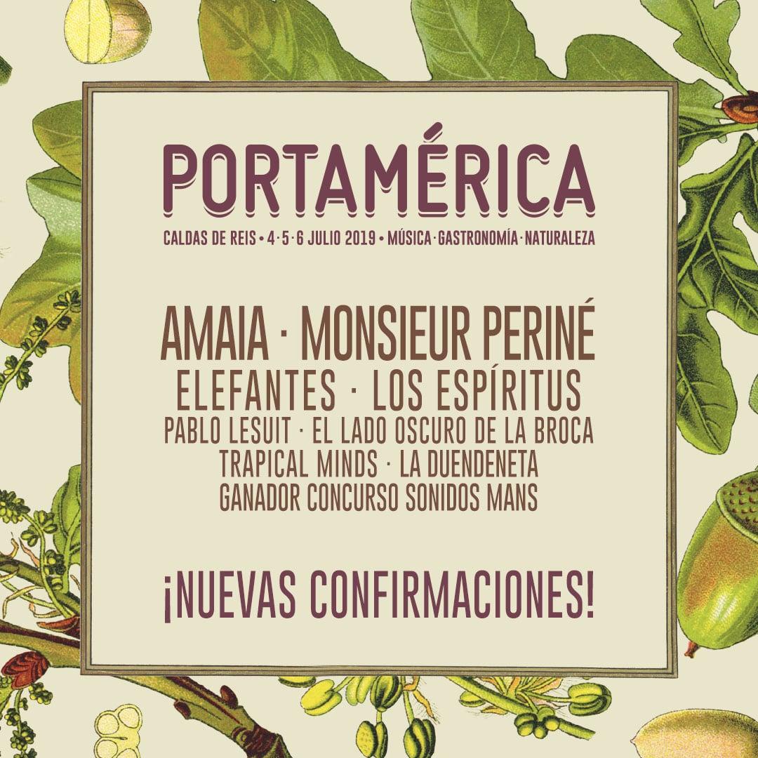 Cartel PortAmérica nuevas confirmaciones