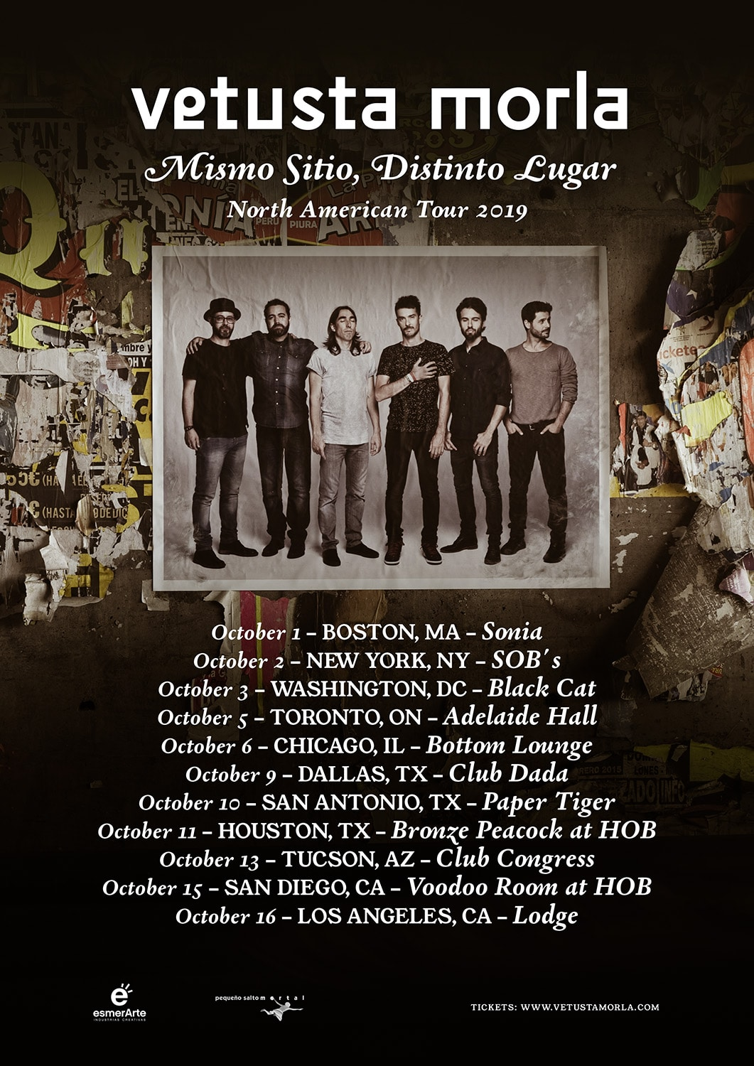 Vetusta Morla North American Tour 2019